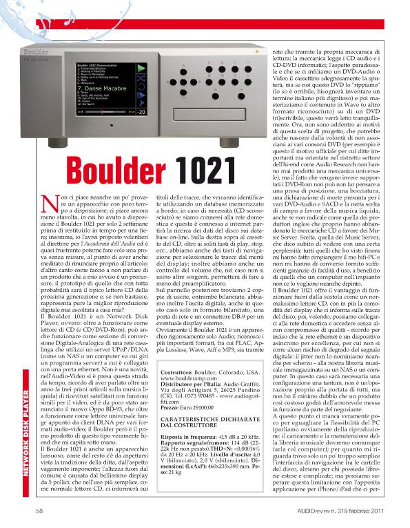 Audio Review – Boulder 1021