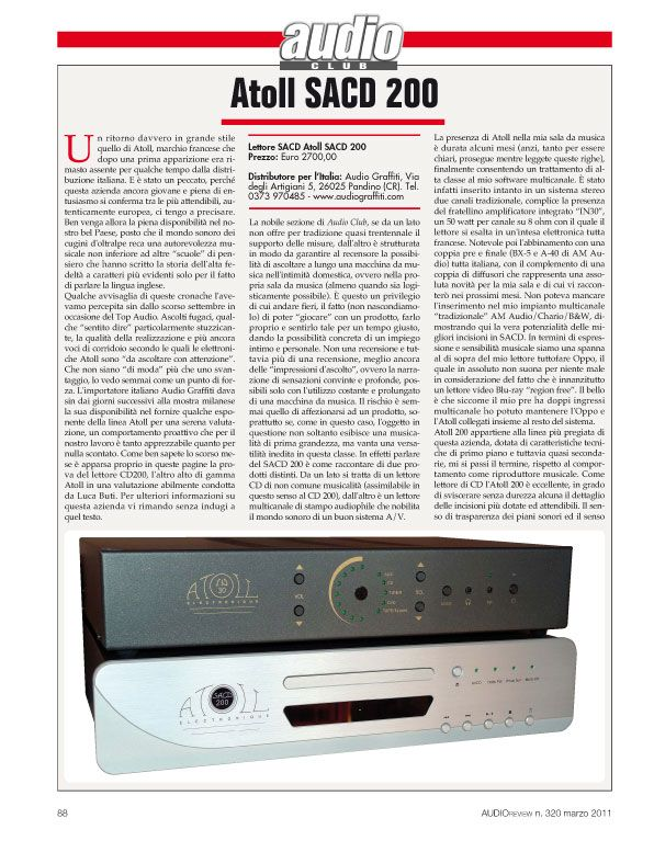 Audio Review – Atoll SACD 200