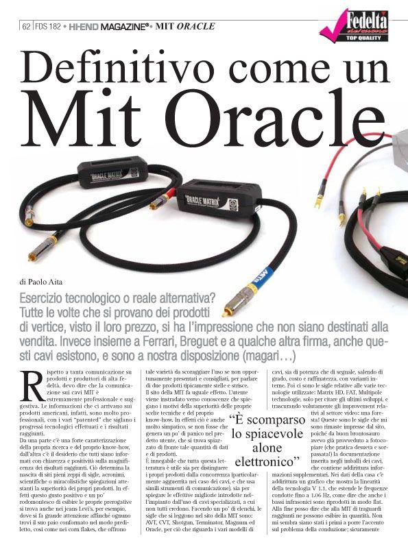 Fedeltà del suono – MIT Oracle