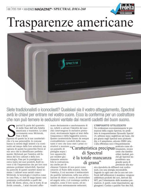 Fedeltà del suono – Spectral DMA 260
