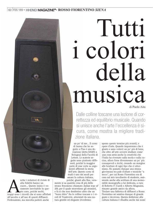 Rosso Fiorentino – Siena – Fedeltà del Suono
