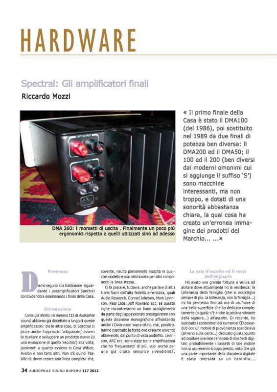 Amplificatori finali Spectral – Audiophile Sound