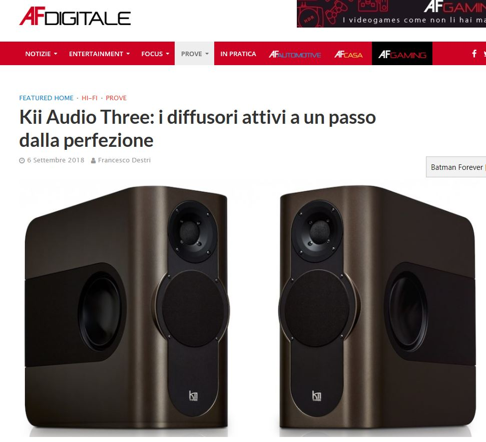 Kii Audio – Three – approfondimenti su AF Digitale