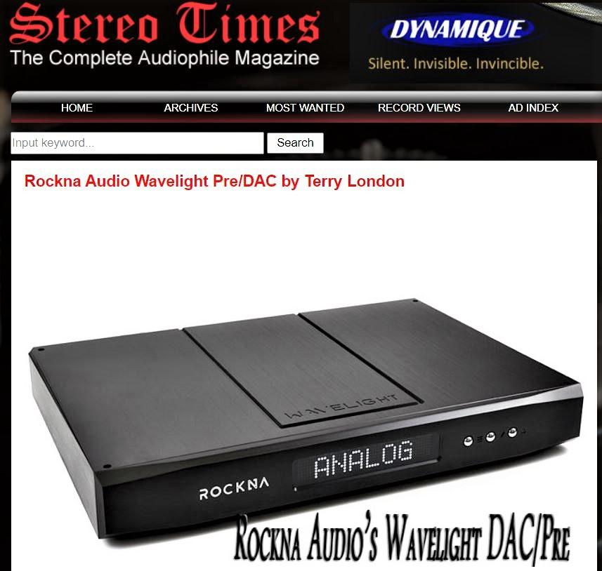 Stereo Times ha provato il Rokna Wavelight Dac