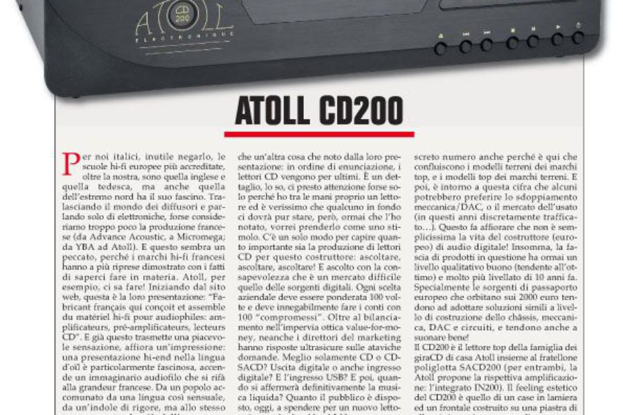 Audio Review – Atoll CD 200
