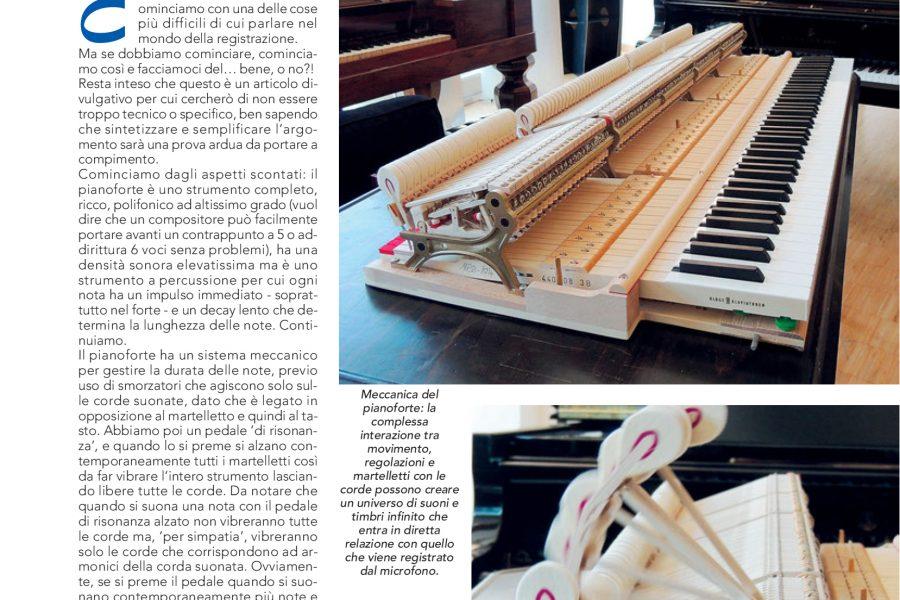 La registrazione del pianoforte …